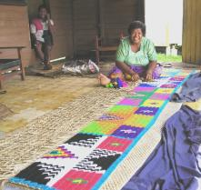 Maintaining traditions- mat weaving in Qeleni village, Taveuni
