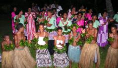 "Maintaining customs: Traditional ""meke"" or dance performed on Taveuni Island"
